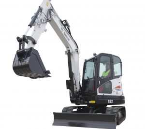 bobcat excavator e62 grading bucket construction