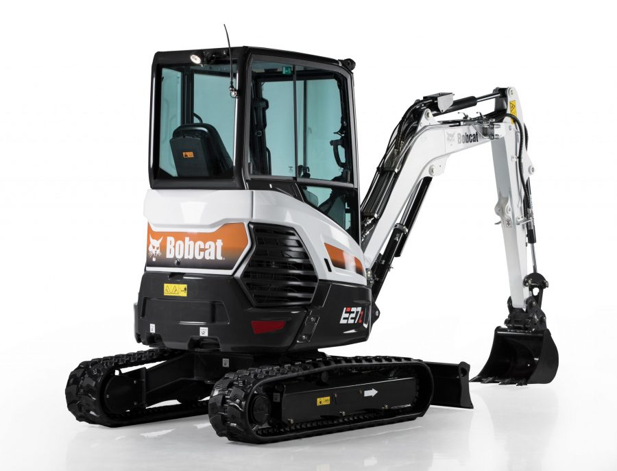 bobcat excavator e27z grading bucket construction