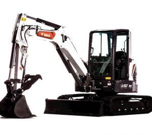 bobcat excavator e50 grading bucket construction