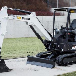 bobcat excavator e34 grading bucket construction