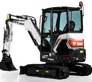 bobcat excavator e27 grading bucket construction