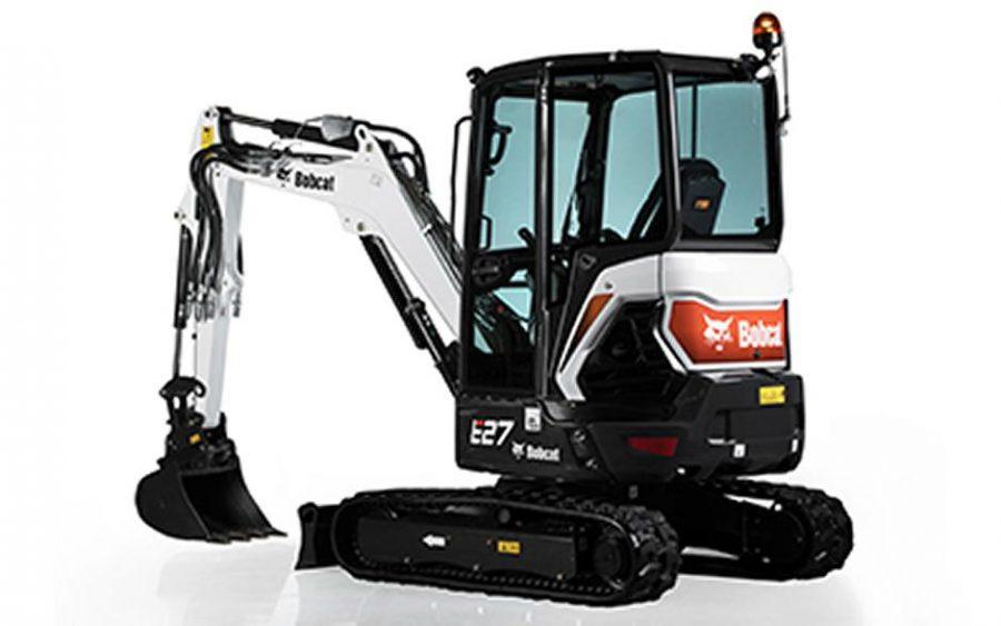 bobcat excavator e27 grading bucket construction