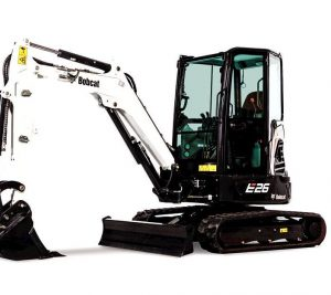 bobcat excavator e26 grading bucket construction