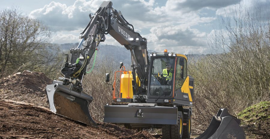 volvo wheel excavator ewR170e construction agriculture machinery