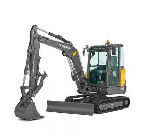volvo excavator ec35d grading bucket construction