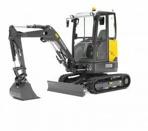 volvo excavator ecr25d grading bucket construction