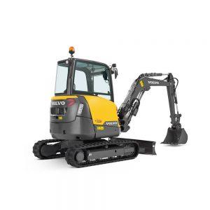 volvo excavator ecr35d grading bucket construction