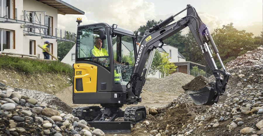 volvo excavator ecr20e grading bucket construction