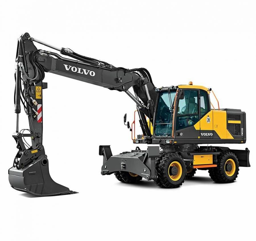 volvo wheel excavator eW220E construction agriculture machinery