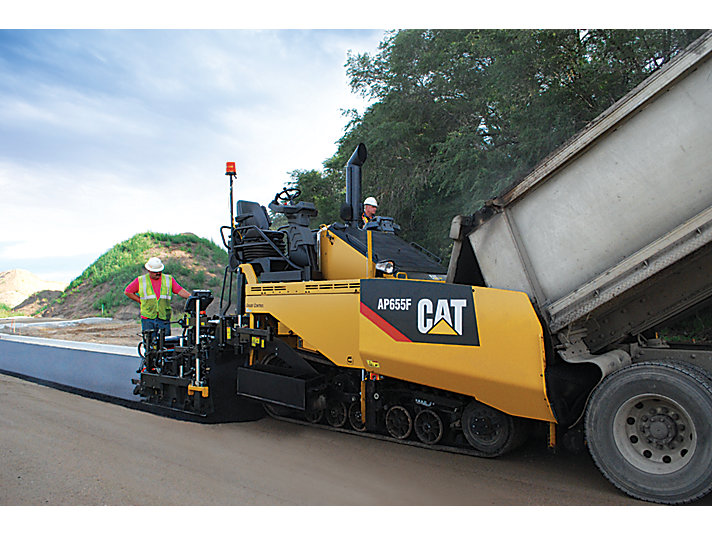 Caterpillar machinery construction agircultre building lifting work tool equipment asphalt paver ap655f