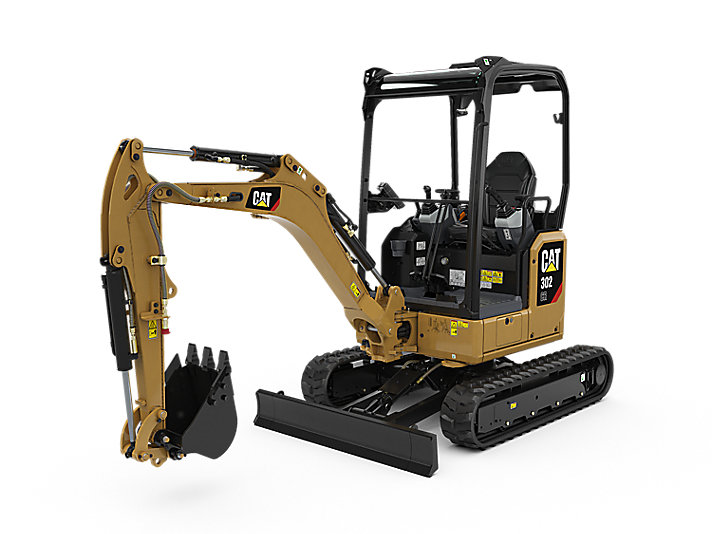 caterpiller 302 cat mini compact excavator construction machinery equipment tool
