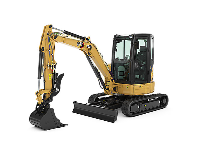 caterpiller 303.5E2CR cat mini compact excavator construction machinery equipment tool